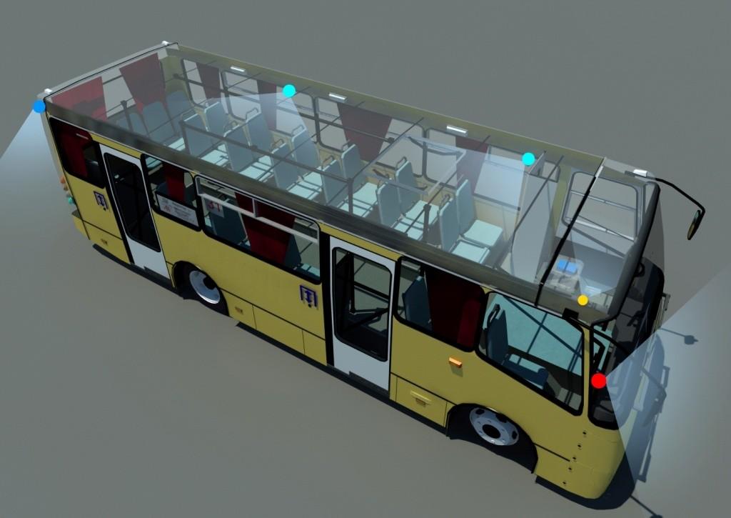 """Онлайн видеонаблюдение в автобус. П.П.РФ """"969"""